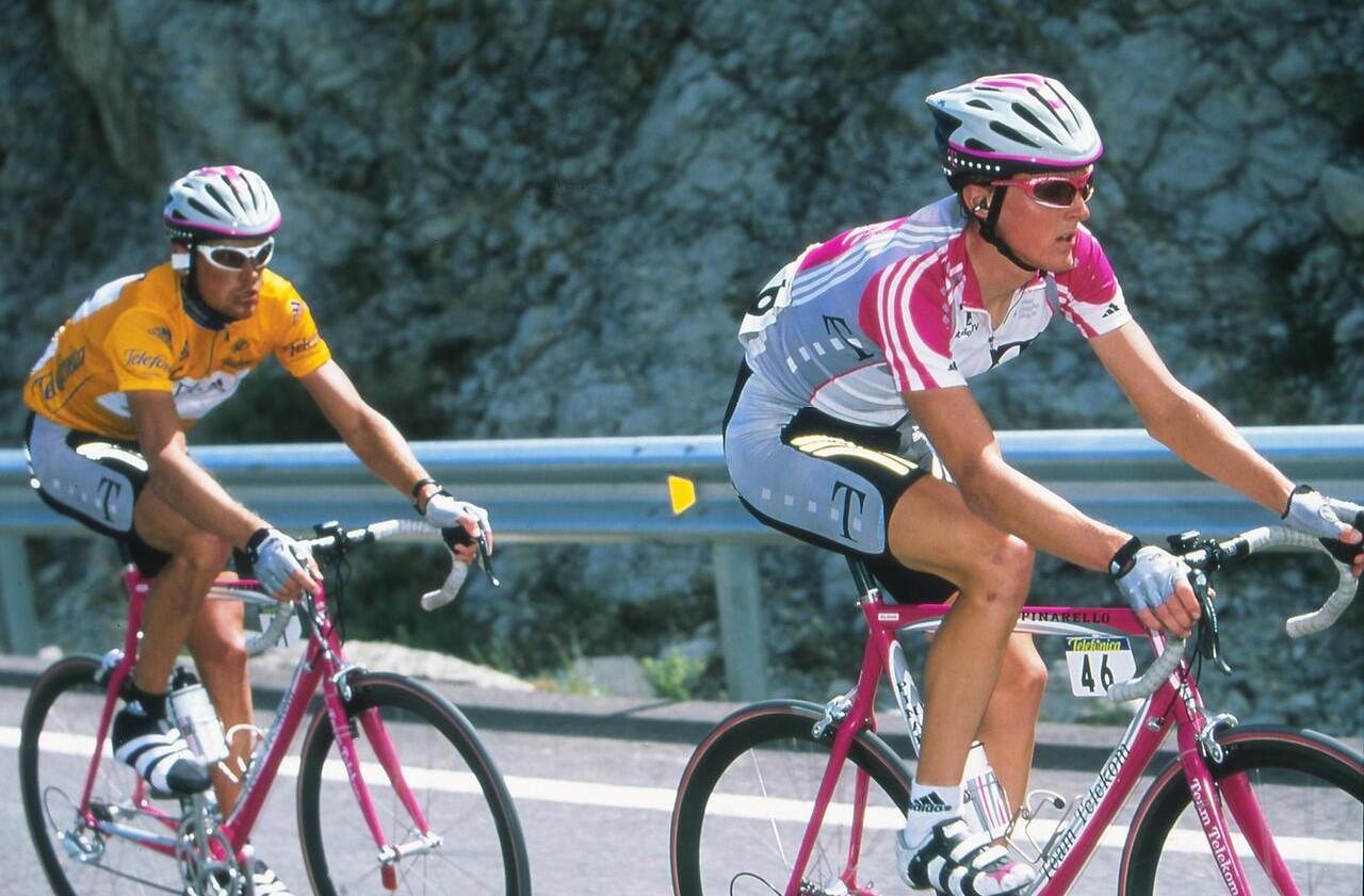 Jan Ullrich and Team Telekom on Pinarello Bikes