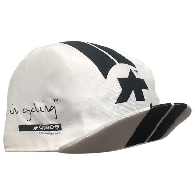 Assos Made in Cycling Cap White - flip up
