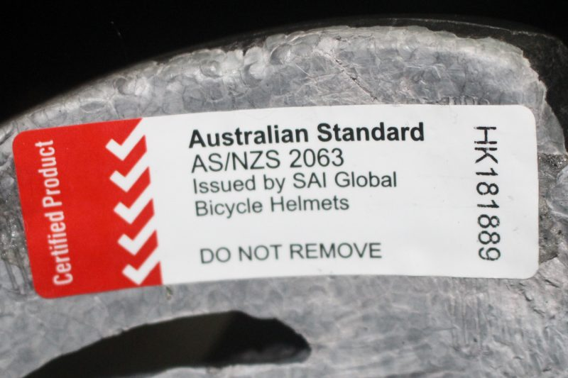 Bicycle Helmets Standards Sticker
