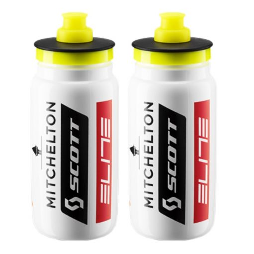 Elite Fly Bottles Team Mitchelton Scott - White, 550ml (2 Pack)