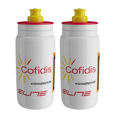 Elite Fly Pro Team Cofidis Cycling Bottles – 550ml (2 pack)