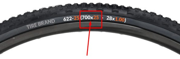 How to identify tyre or tube size