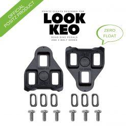 Positz ARC Look KEO Road Bike Cleats – 7deg Float, Black