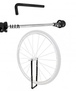 Positz Bicycle Front Wheel Mount Travel Hitch and Anti-Theft Device Combo