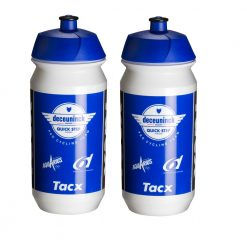Tacx Shiva Pro Team Water Bottles - 500ml, Deceuninck - Quick-Step (2 Pack)