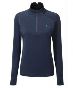 Women's Tech Matrix 1_2 Zip - Deep Navy_Spa Green