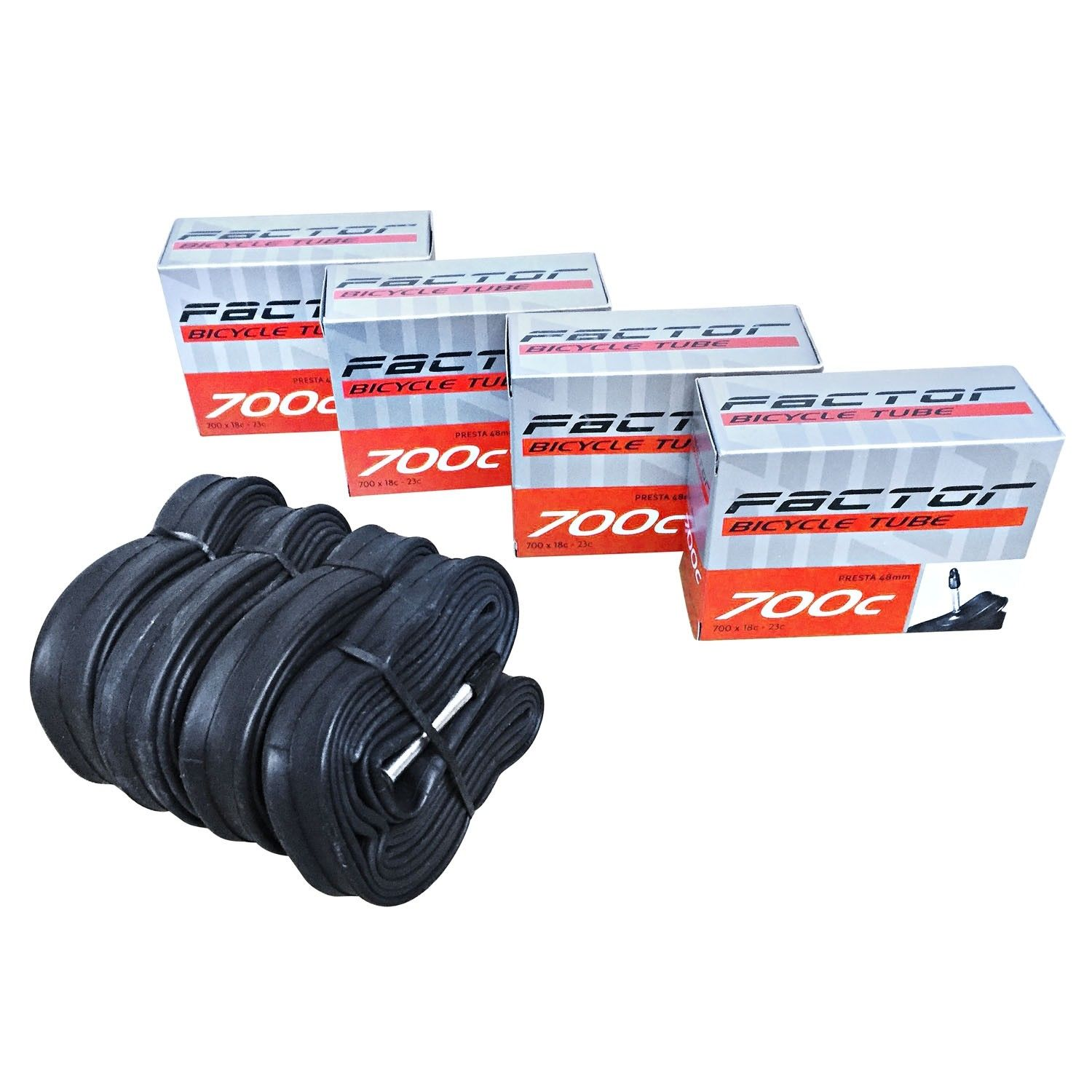 6 Pack 700 X 18-25C 6X Road Racing Hybrid Bike Presta Inner Tubes