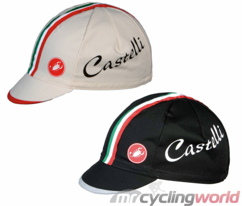 277d459c65f116 Castelli Cycling Cap with Italy Tricolor Stripes l Mr Cycling World