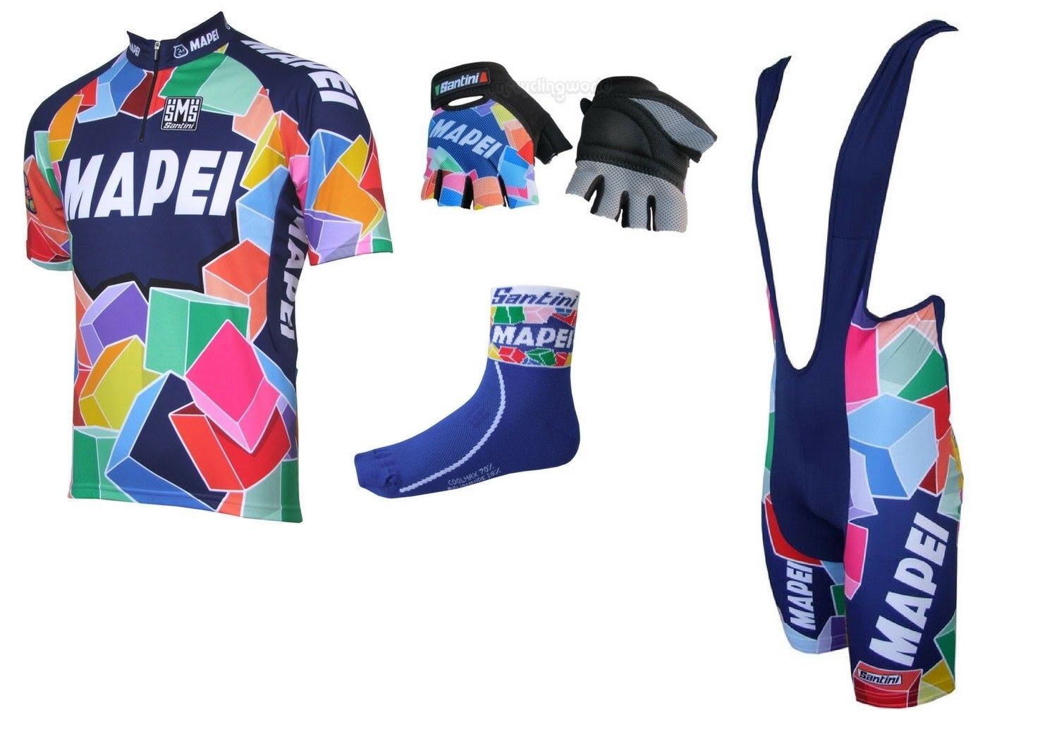 Genuine Mapei Full Pro Team Issue Cycling Kit  Jersey ffbd94bfa