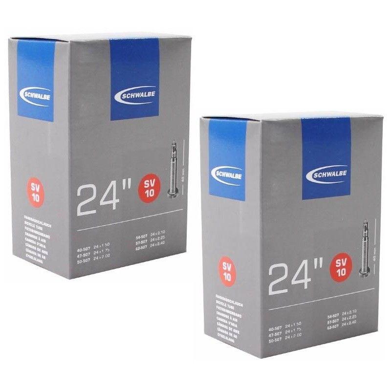 "Schwalbe SV12A 26/"" Bike Inner Tubes Presta 40mm Valve 2 Pack 26 x 1.00-1.50"
