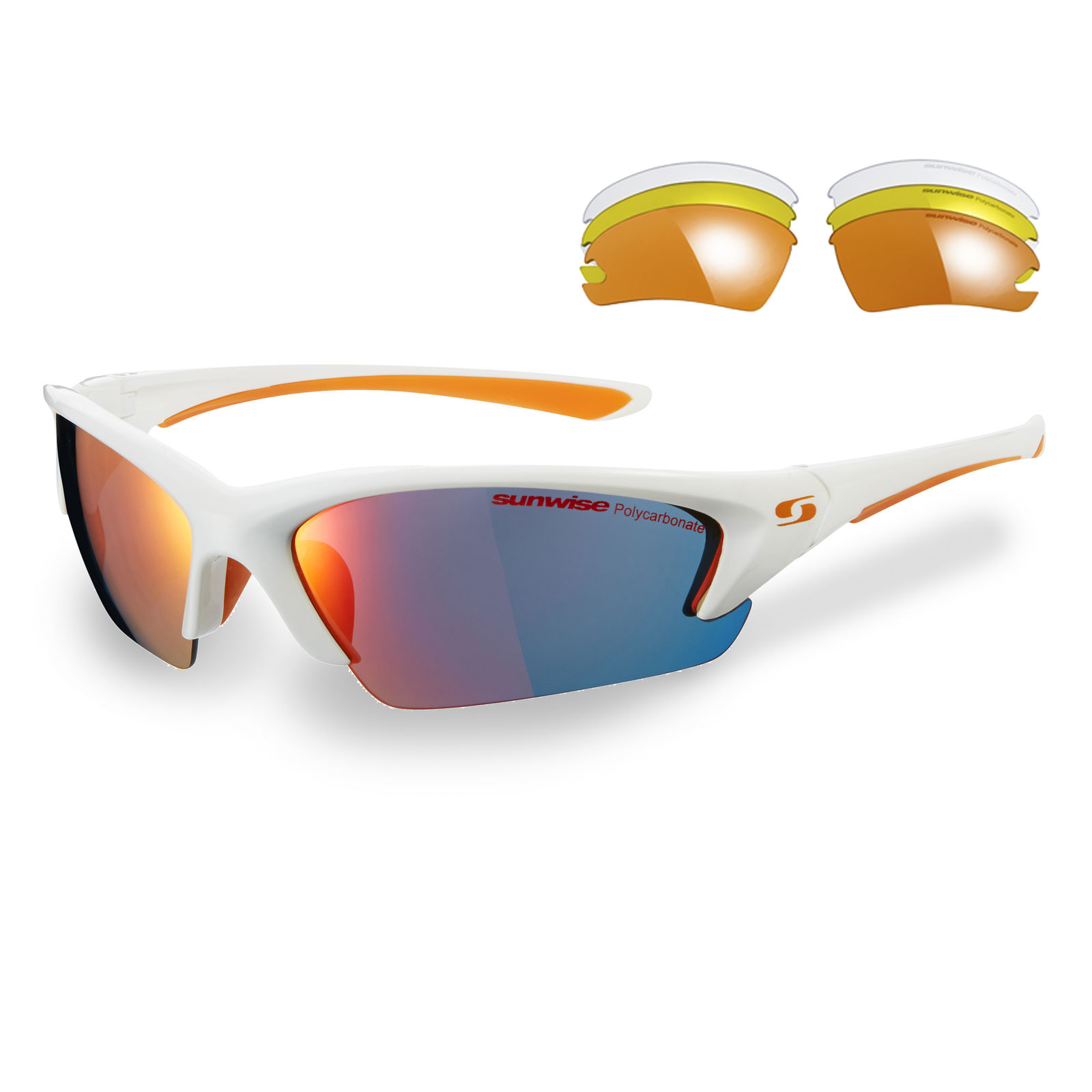 Sunwise Equinox RM White Sports Sunglasses with 4 Interchangeable ... 1cf22dcea97a