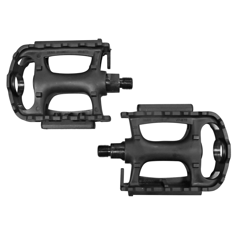 "Bike PedaIs 861 With Toe Clips /& Straps 9//16/"" Black  ROAD BlKE MTB BMX Bike NEW"